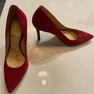Sam Edelman Hazel Pointed Toe Heel, Deep Red